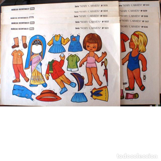 10 MUÑECAS RECORTABLES BOGA. SERIE MARY CARMEN 501 A 510 (Coleccionismo - Recortables - Muñecas)