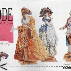 Coleccionismo Recortables: MODE XVIII AU TEMPS DE FIGARO. COL. GRAN ANGLE, 6. FRANCE, 1994. 6 LAM: 3 PERSONAJES, 12 VESTIDOS. Lote 172628452