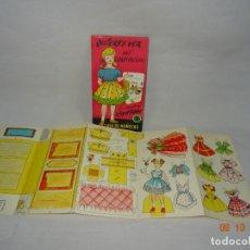 Coleccionismo Recortables: QUIERES VER MI HABITACIÓN CUADERNO DE RECORTABLES Nº 1 CASA DE MUÑECAS DE RECORTABLES LA TIJERA 1962. Lote 136590750