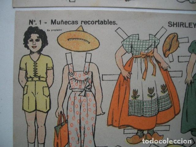 Coleccionismo Recortables: RECORTABLE EDICIONES TBO 32 X 21 CM Shirley Temple y Diane Durbin - Foto 2 - 137374434