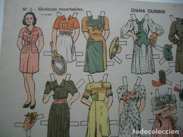 Coleccionismo Recortables: RECORTABLE EDICIONES TBO 32 X 21 CM Shirley Temple y Diane Durbin - Foto 3 - 137374434
