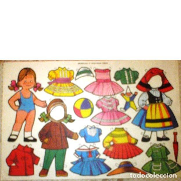 RECORTABLE MUÑECAS Y VESTIDOS FHER (Coleccionismo - Recortables - Muñecas)