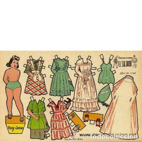 RECORTABLE MARY-CARMEN. CONSTRUCCIONES EL SOLDADO. SERIE 100, Nº 107 (Coleccionismo - Recortables - Muñecas)