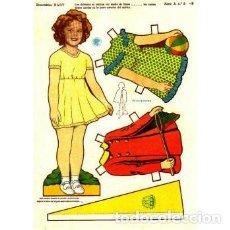 Coleccionismo Recortables: RECORTABLE SHIRLEY TEMPLE. BABY. SERIE A Nº 5 - P. Lote 137658238