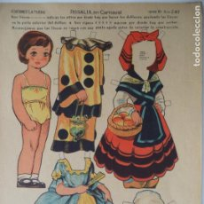 Coleccionismo Recortables: LA TIJERA SERIE 10 ROSALIA EN CARNAVAL Nº 240. Lote 138115754