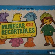 Coleccionismo Recortables: MUÑECAS RECORTABLES BOGA SERIE MARY CARMEN. 50 LAMINAS. Lote 138605062