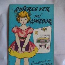 Coleccionismo Recortables: LA TIJERA CASA DE MUÑECAS ¿QUIERES VER MI COMEDOR? Nº 3. Lote 138659534