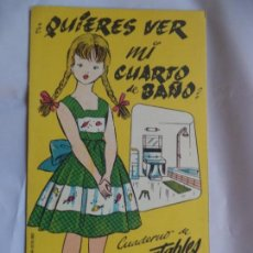 Coleccionismo Recortables: LA TIJERA CASA DE MUÑECAS ¡QUIERES VER MI CUARTO DE BAÑO Nº 2. Lote 138660546