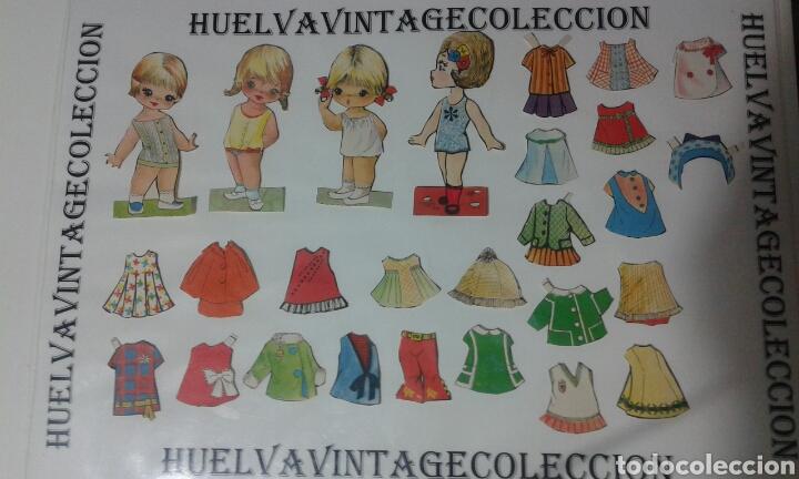 LOTE DE RECORTABLES ANTIGUOS. (Coleccionismo - Recortables - Muñecas)
