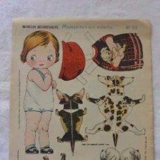 Coleccionismo Recortables: RECORTABLE MARIQUITA Y SUS PERRITOS. Lote 138778586