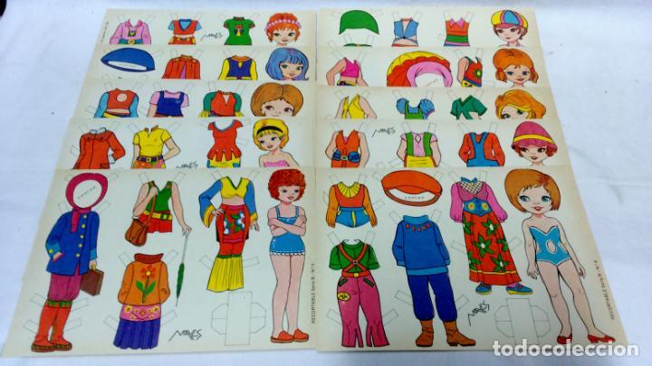 Coleccionismo Recortables: LOTE 36 LÁMINAS RECORTABLES MUÑECAS VARIAS EDITORIALES. LAMINAS ENTERAS SIN ROTURAS. TODAS DISTINTAS - Foto 5 - 139175718