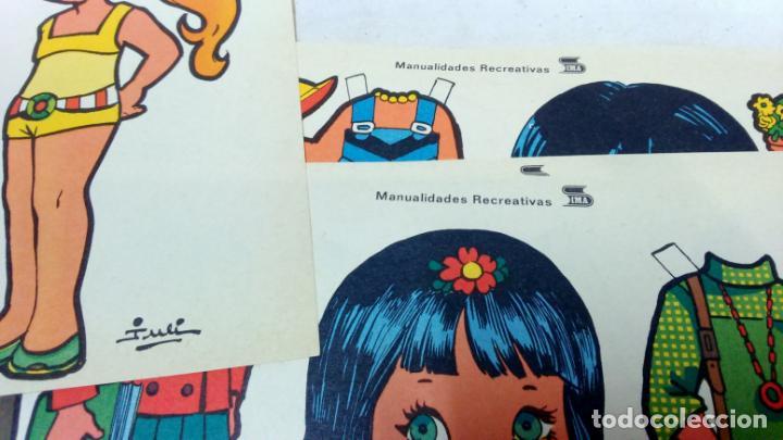 Coleccionismo Recortables: LOTE 38 LÁMINAS RECORTABLES MUÑECAS VARIAS EDITORIALES. LAMINAS ENTERAS SIN ROTURAS. TODAS DISTINTAS - Foto 3 - 139176050