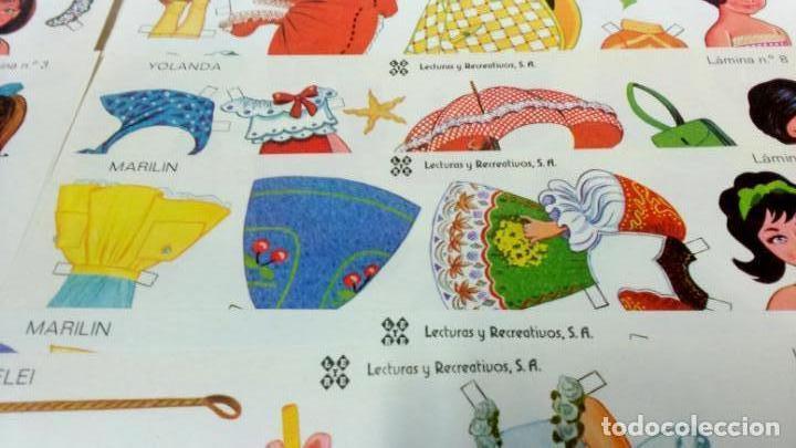 Coleccionismo Recortables: LOTE 38 LÁMINAS RECORTABLES MUÑECAS VARIAS EDITORIALES. LAMINAS ENTERAS SIN ROTURAS. TODAS DISTINTAS - Foto 7 - 139176050