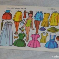 Coleccionismo Recortables: VINTAGE - LIBRITO CON 10 LÁMINAS DE MUÑECAS RECORTABLES EVA - 10 LÁMINAS DIFERENTES - ENVÍO 24H. Lote 147768782