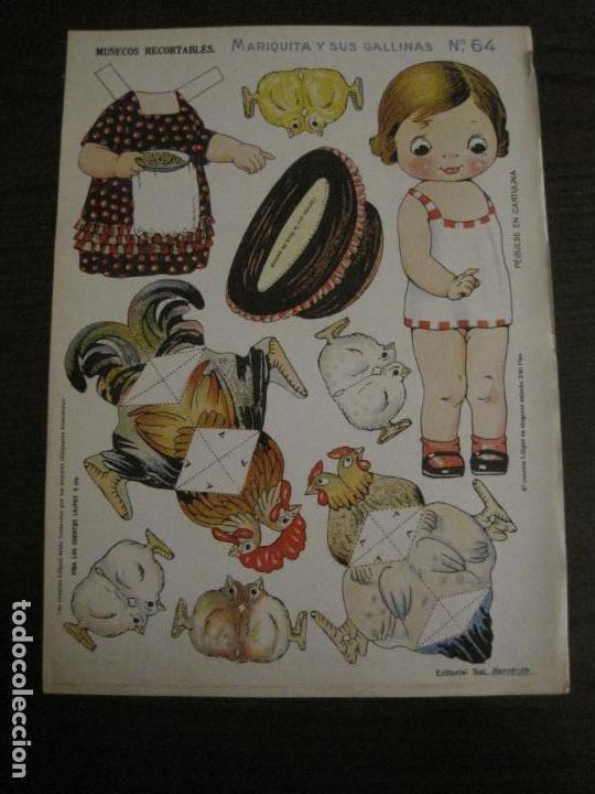 MUÑECA RECORTABLE ANTIGUA- MARIQUITA Y SUS GALLINAS - Nº 64 - ED·SUC·HERNANDO -VER FOTOS- (V-15.300) (Coleccionismo - Recortables - Muñecas)