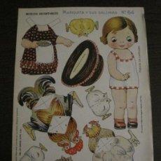 Coleccionismo Recortables: MUÑECA RECORTABLE ANTIGUA- MARIQUITA Y SUS GALLINAS - Nº 64 - ED·SUC·HERNANDO -VER FOTOS- (V-15.300). Lote 140911398