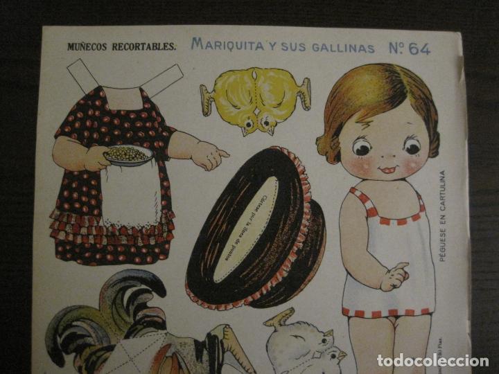 Coleccionismo Recortables: MUÑECA RECORTABLE ANTIGUA- MARIQUITA Y SUS GALLINAS - Nº 64 - ED·SUC·HERNANDO -VER FOTOS- (V-15.300) - Foto 2 - 140911398