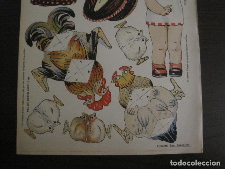 Coleccionismo Recortables: MUÑECA RECORTABLE ANTIGUA- MARIQUITA Y SUS GALLINAS - Nº 64 - ED·SUC·HERNANDO -VER FOTOS- (V-15.300) - Foto 3 - 140911398