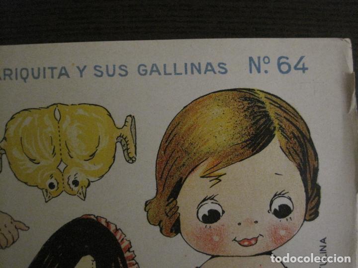 Coleccionismo Recortables: MUÑECA RECORTABLE ANTIGUA- MARIQUITA Y SUS GALLINAS - Nº 64 - ED·SUC·HERNANDO -VER FOTOS- (V-15.300) - Foto 4 - 140911398