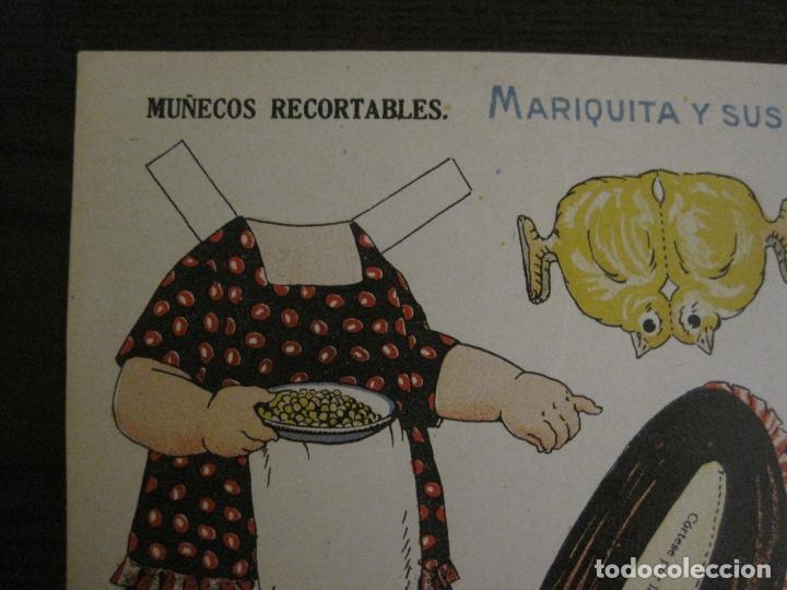 Coleccionismo Recortables: MUÑECA RECORTABLE ANTIGUA- MARIQUITA Y SUS GALLINAS - Nº 64 - ED·SUC·HERNANDO -VER FOTOS- (V-15.300) - Foto 5 - 140911398