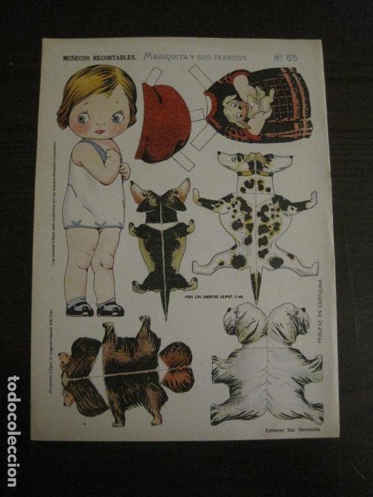 MUÑECA RECORTABLE ANTIGUA- MARIQUITA Y SUS PERRITOS - Nº 65 - ED·SUC·HERNANDO -VER FOTOS-(V-15.301) (Coleccionismo - Recortables - Muñecas)