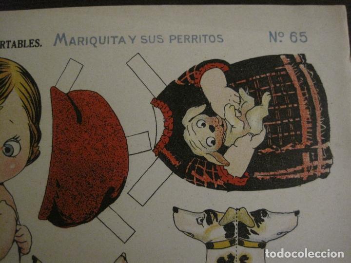 Coleccionismo Recortables: MUÑECA RECORTABLE ANTIGUA- MARIQUITA Y SUS PERRITOS - Nº 65 - ED·SUC·HERNANDO -VER FOTOS-(V-15.301) - Foto 5 - 140911718