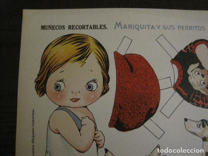 Coleccionismo Recortables: MUÑECA RECORTABLE ANTIGUA- MARIQUITA Y SUS PERRITOS - Nº 65 - ED·SUC·HERNANDO -VER FOTOS-(V-15.301) - Foto 6 - 140911718