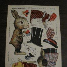 Coleccionismo Recortables: MUÑECA RECORTABLE ANTIGUA- DOÑA CONEJITA Y SU HIJA - Nº 66 - ED·SUC·HERNANDO -VER FOTOS-(V-15.302). Lote 140911950