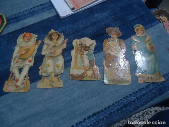 LOTE DE 5 ANTIGUOS RECORTABLES PARA PEGAR AÑOS 30 (Coleccionismo - Recortables - Muñecas)