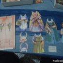 Coleccionismo Recortables: ANTIGUO RECORTABLE JUGUETE DE PAPEL ARMARIO CON PERSONAJE Y ACCESORIOS AÑOS 30-40. Lote 141826006