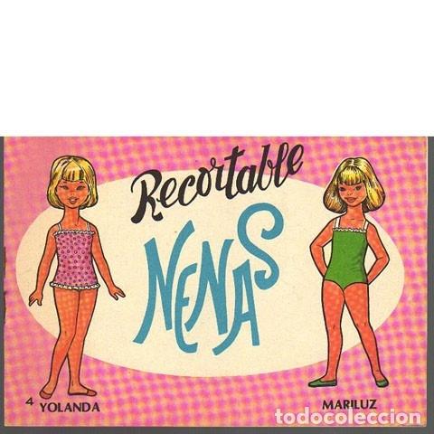 RECORTABLE NENAS 4. YOLANDA Y MARILUZ (Coleccionismo - Recortables - Muñecas)