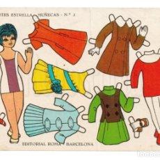 Coleccionismo Recortables: LAMINA RECORTABLES MUÑECAS RECORTES ESTRELLA Nº 3 EDITORIAL ROMA AÑO 1963. Lote 143926822