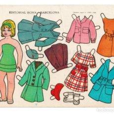 Coleccionismo Recortables: LAMINA RECORTABLES MUÑECAS RECORTES ESTRELLA Nº 10 EDITORIAL ROMA AÑO 1963. Lote 143926938