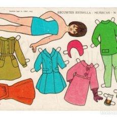 Coleccionismo Recortables: LAMINA RECORTABLES MUÑECAS RECORTES ESTRELLA Nº 21 EDITORIAL ROMA AÑO 1963. Lote 143927210