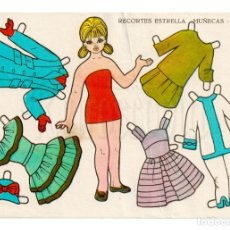 Coleccionismo Recortables: LAMINA RECORTABLES MUÑECAS RECORTES ESTRELLA Nº 22 EDITORIAL ROMA AÑO 1963. Lote 143927282