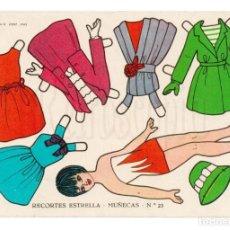 Coleccionismo Recortables: LAMINA RECORTABLES MUÑECAS RECORTES ESTRELLA Nº 23 EDITORIAL ROMA AÑO 1963. Lote 143927402