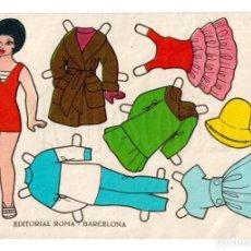 Coleccionismo Recortables: LAMINA RECORTABLES MUÑECAS RECORTES ESTRELLA Nº 24 EDITORIAL ROMA AÑO 1963. Lote 143927450