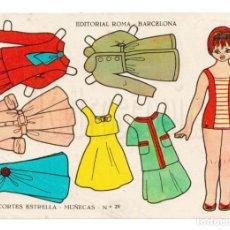 Coleccionismo Recortables: LAMINA RECORTABLES MUÑECAS RECORTES ESTRELLA Nº 29 EDITORIAL ROMA AÑO 1963. Lote 143927502