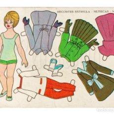 Coleccionismo Recortables: LAMINA RECORTABLES MUÑECAS RECORTES ESTRELLA Nº 31 EDITORIAL ROMA AÑO 1963. Lote 143927594
