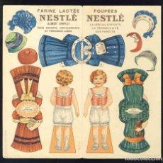 Coleccionismo Recortables: RECORTABLE DE MUÑECAS: NESTLE (20 X 19 CMS). Lote 143959106