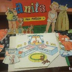 Coleccionismo Recortables: ANITA Y SUS VESTIDOS, 2 MUÑECAS+ 75 VESTIDOS Y COMPLEMENTOS, BRUGUERA. Lote 144101354