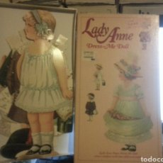 Coleccionismo Recortables: RECORTABLE GIGANTE RELIEVE PAPEL DURO CARTON FINO - LADY ANNE DRESS ME DOLL . ENGLAND MLP 1989. Lote 146012090
