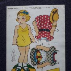 Coleccionismo Recortables: MUÑECA RECORTABLE ANTIGUA BABY. . Lote 146116522