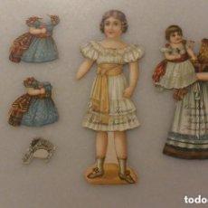Coleccionismo Recortables: MUÑECA RECORTABLE CHOCOLATE JUNCOSA. SERIE X. BARCELONA S. XIX. Lote 146665726