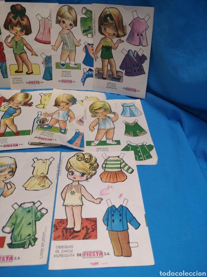 Coleccionismo Recortables: Lote de 17 recortables chicle muñequita de la marca fiesta. Ed. Roma, Barcelona 1970 - Foto 5 - 147210742