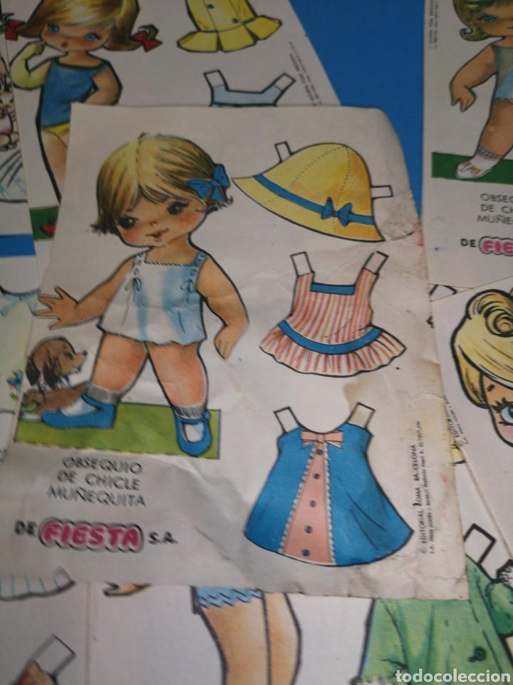 Coleccionismo Recortables: Lote de 17 recortables chicle muñequita de la marca fiesta. Ed. Roma, Barcelona 1970 - Foto 7 - 147210742