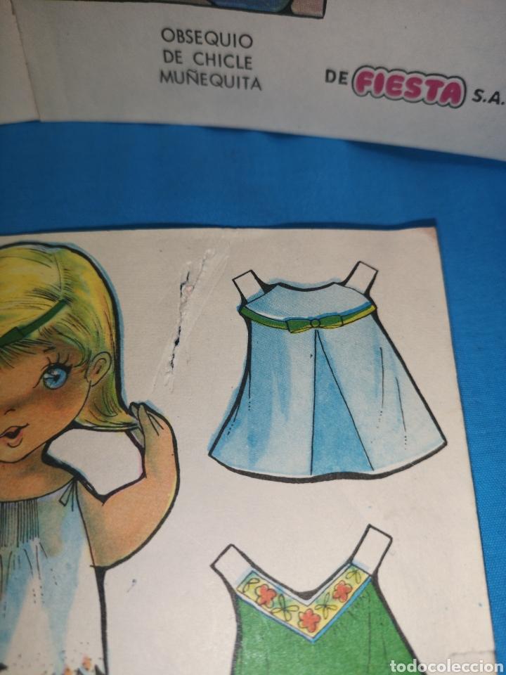 Coleccionismo Recortables: Lote de 17 recortables chicle muñequita de la marca fiesta. Ed. Roma, Barcelona 1970 - Foto 8 - 147210742