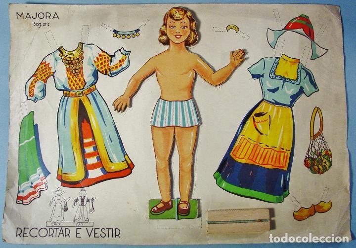 Muñeca Para Recortar Y Vestir Ed Majora Port Vendido En