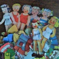 Coleccionismo Recortables: LOTE DE 7 RECORTABLES MARIQUITAS BOMBÓN. TAMAÑO MUÑECA 11 CM.. Lote 147588326