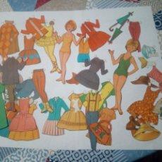 Coleccionismo Recortables: LOTE ANTIGUO RECORTABLES MUÑECAS. Lote 147727870